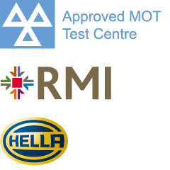 Approved MOT Test Centre, Member of the RMI, Hella Diagnostics
